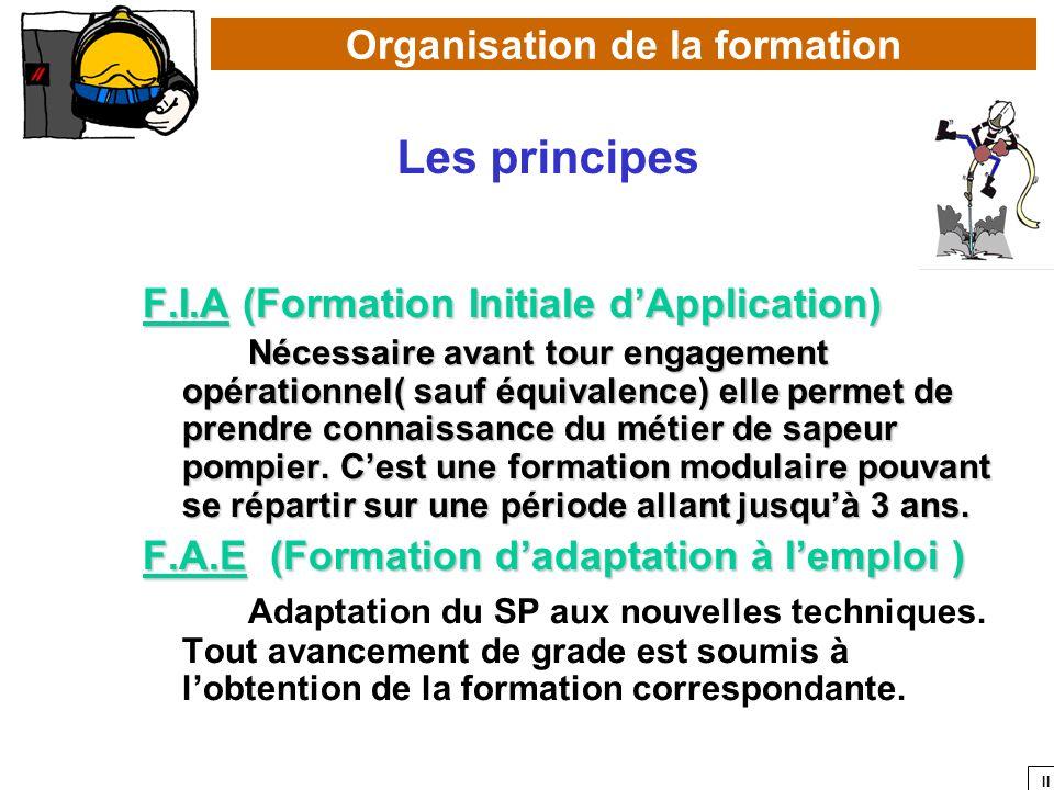 II F.I.A (Formation Initiale dApplication) Nécessaire avant tour engagement opérationnel( sauf équivalence) elle permet de prendre connaissance du mét