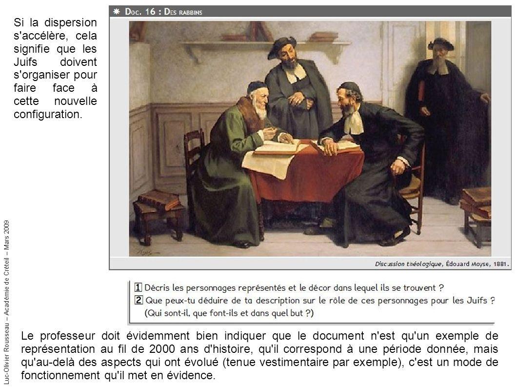 Luc-Olivier Rousseau – Académie de Créteil – Mars 2009 Si la dispersion s accélère, cela signifie que les Juifs doivent s organiser pour faire face à cette nouvelle configuration.