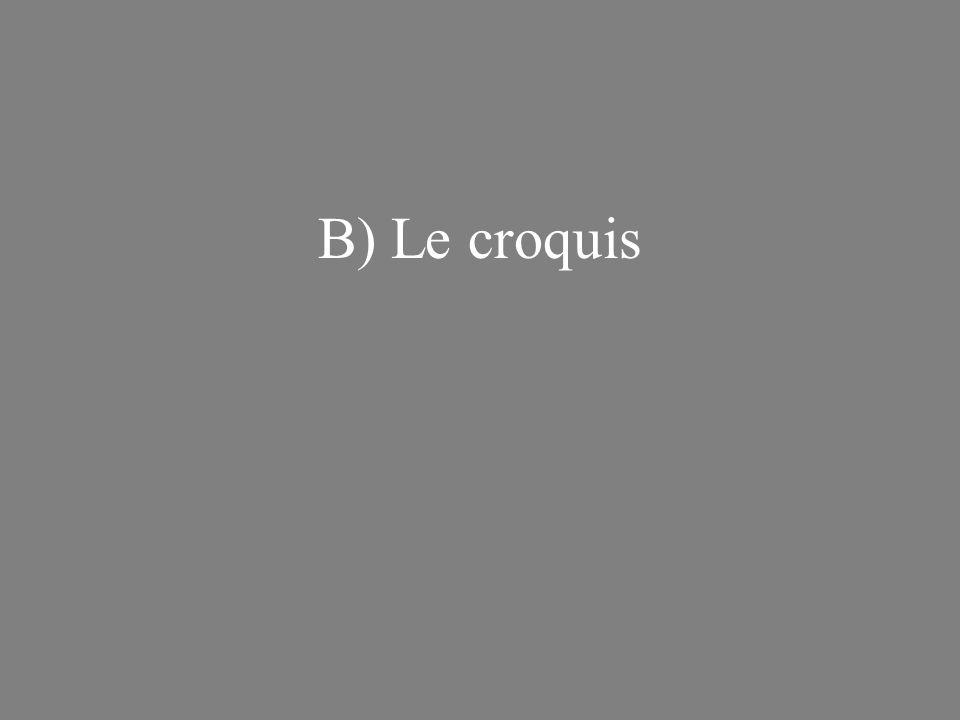 B) Le croquis