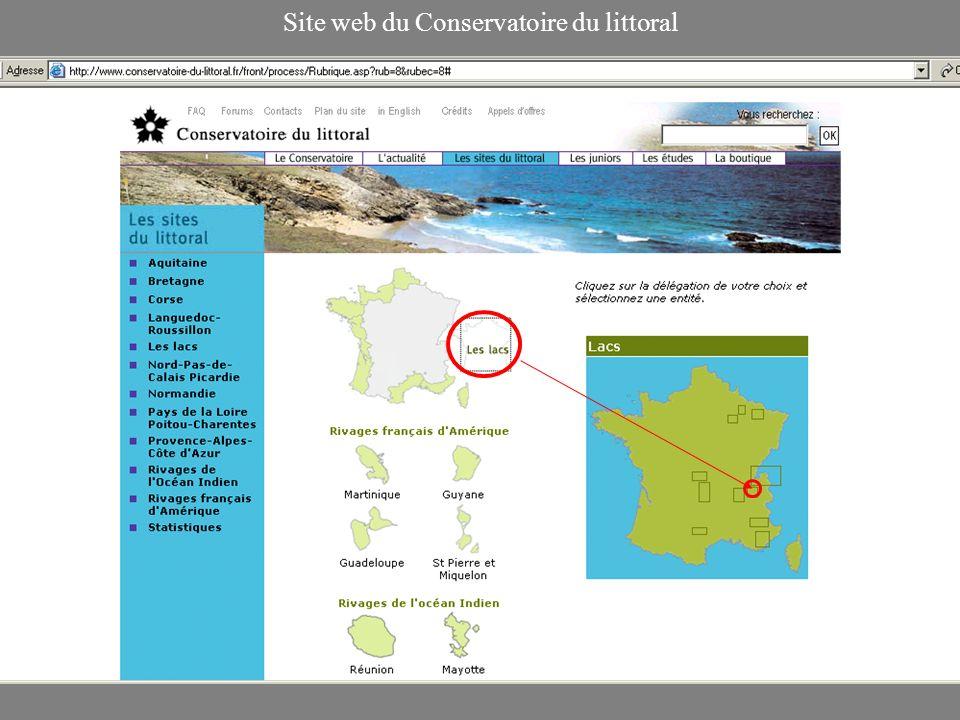 Site web du Conservatoire du littoral