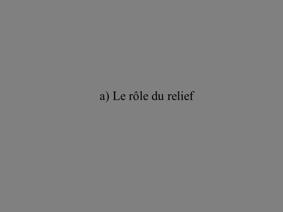 a) Le rôle du relief