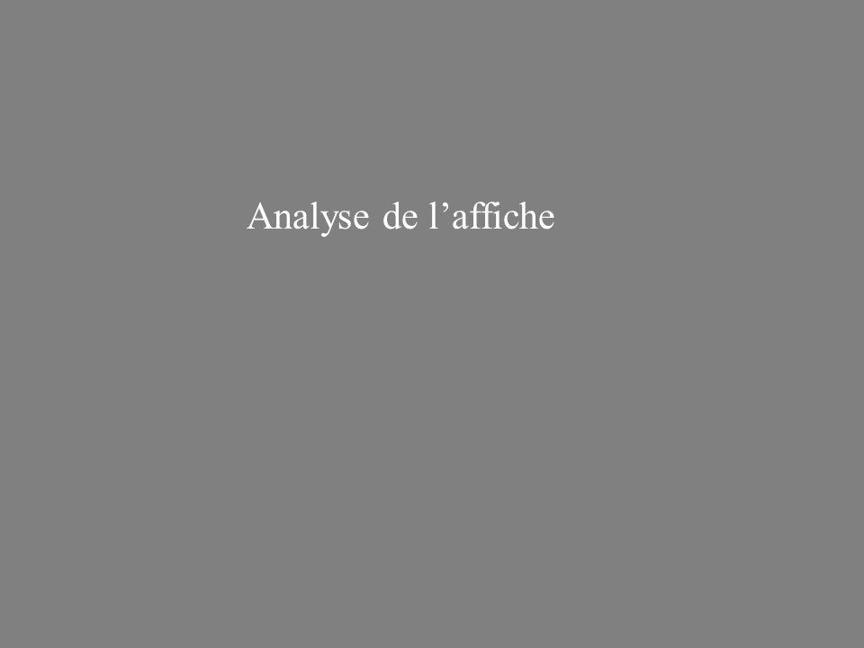 Analyse de laffiche