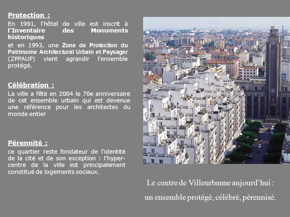 Protection : En 1991, l'hôtel de ville est inscrit à l'Inventaire des Monuments historiques et en 1993, une Zone de Protection du Patrimoine Architect