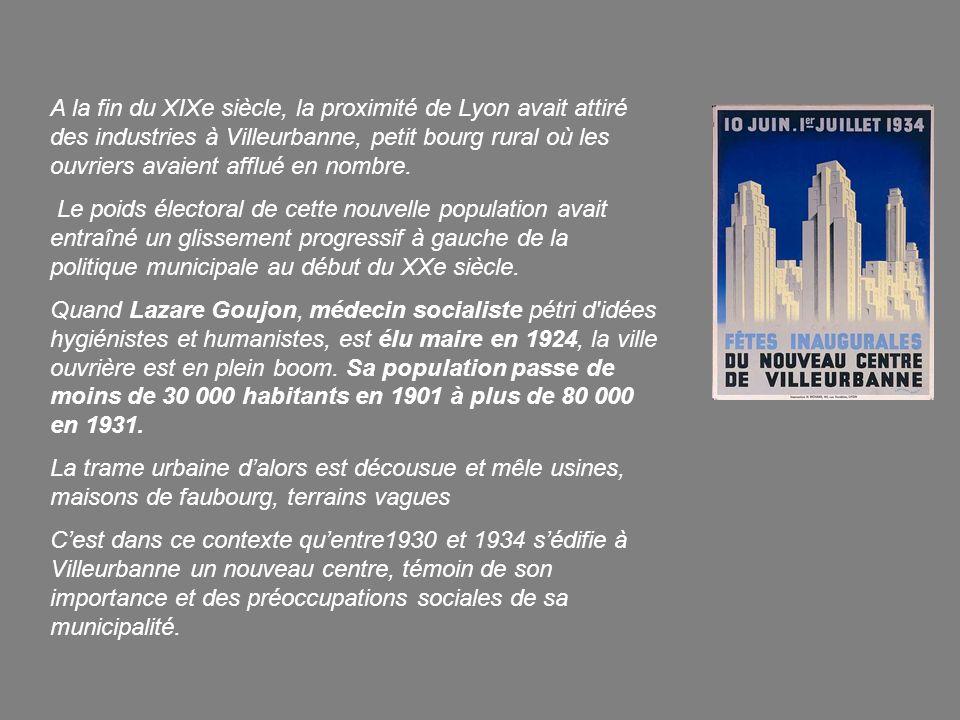 A la fin du XIXe siècle, la proximité de Lyon avait attiré des industries à Villeurbanne, petit bourg rural où les ouvriers avaient afflué en nombre.