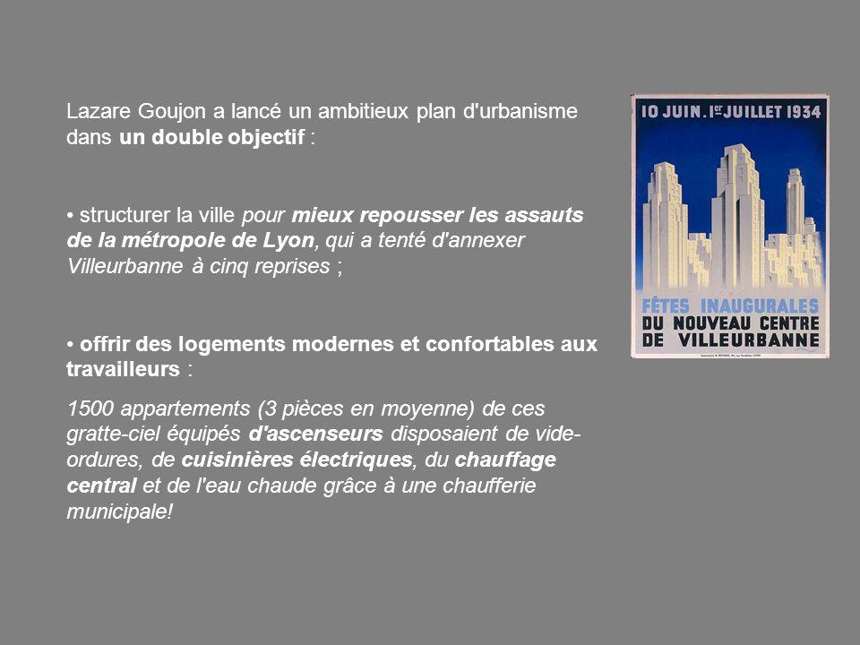 Lazare Goujon a lancé un ambitieux plan d'urbanisme dans un double objectif : structurer la ville pour mieux repousser les assauts de la métropole de