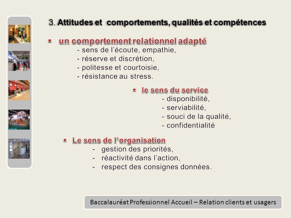 3. Attitudes et comportements, qualités et compétences
