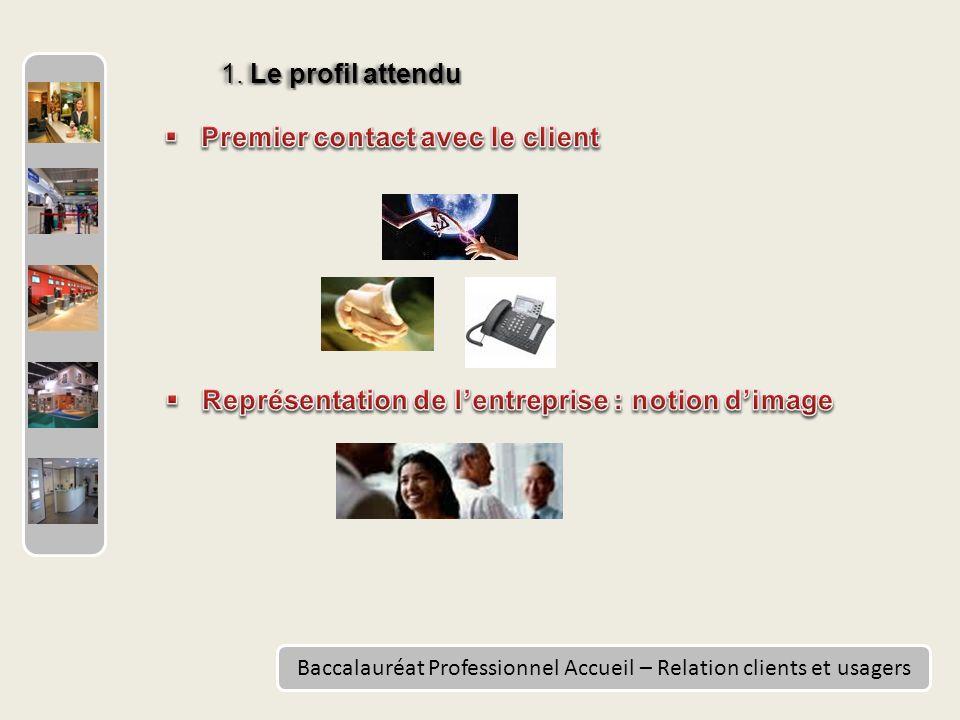 Baccalauréat Professionnel Accueil – Relation clients et usagers 1. Le profil attendu