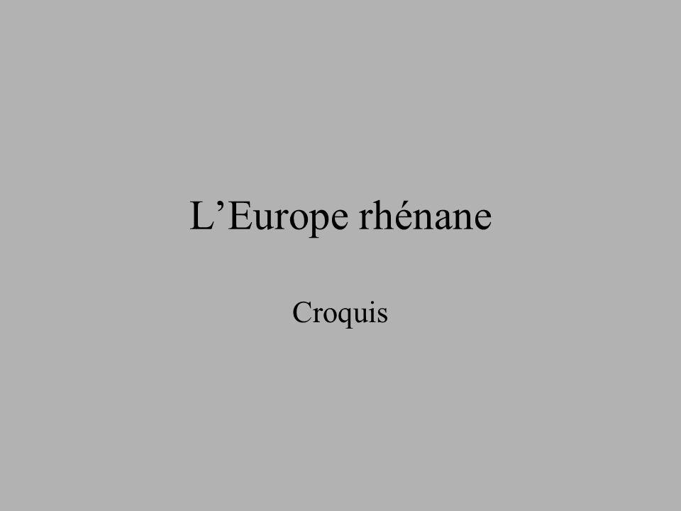 LEurope rhénane Croquis