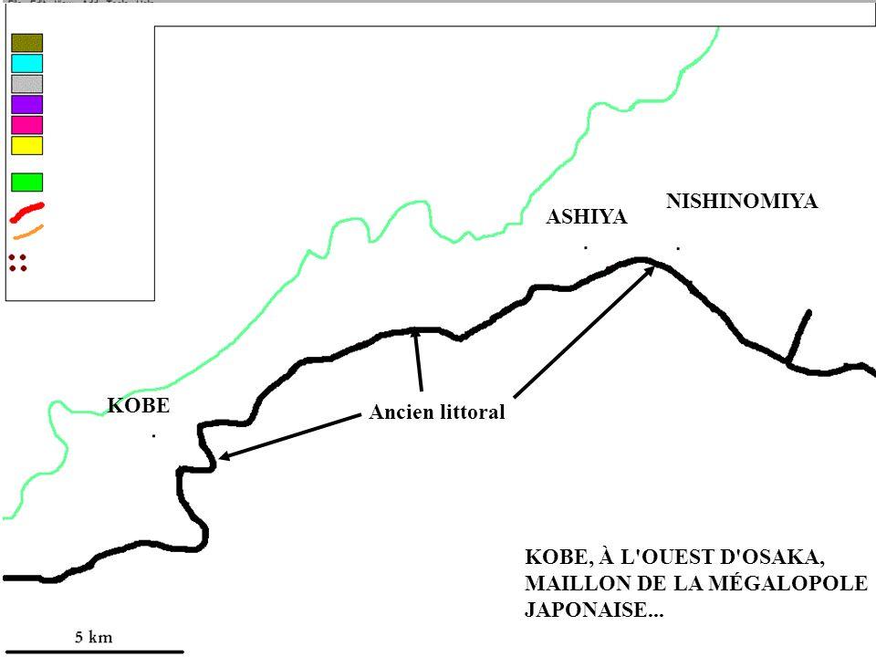 AU COEUR DU JAPON... ASHIYA NISHINOMIYA KOBE Ancien littoral KOBE, À L'OUEST D'OSAKA, MAILLON DE LA MÉGALOPOLE JAPONAISE...