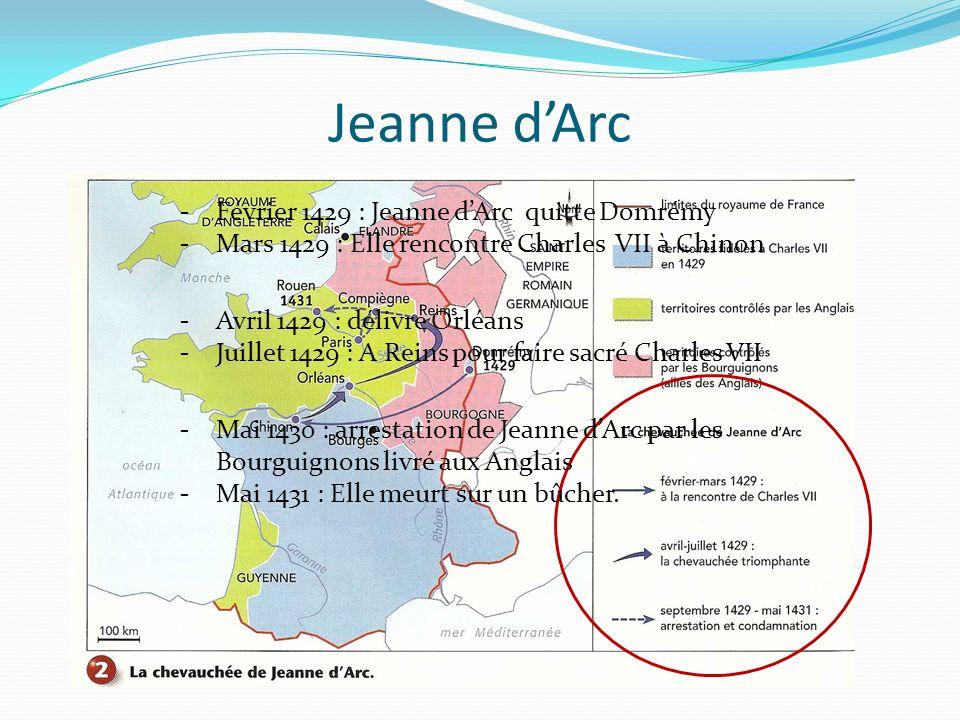 Rédiger une chronique « En 1429 Jeanne dArc quitta Domrémy.