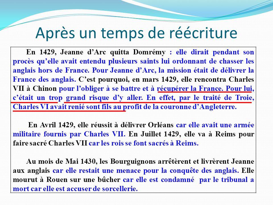 Le contexte « Vers 1425, le royaume de France est divisé par la guerre : le nord est aux mains des Anglais et de leurs alliés, les Bourguignons.