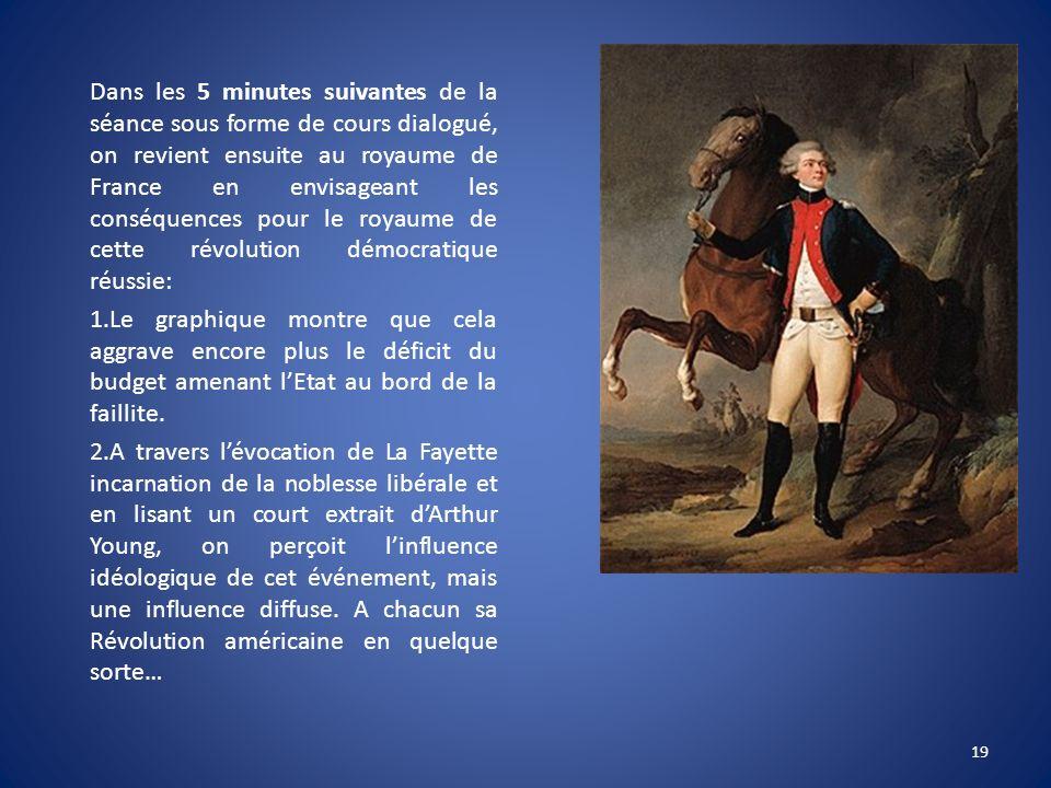 Dans les 5 minutes suivantes de la séance sous forme de cours dialogué, on revient ensuite au royaume de France en envisageant les conséquences pour l