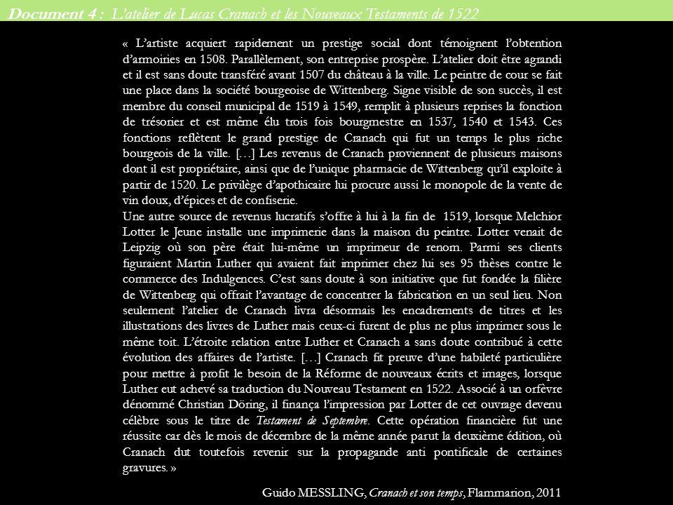La même démarche peut être menée pour les séries de Lucrèce : -elles sont inspirées de modèles italiens (Franceso Francia) -elles portent dabord un message religieux en annonçant la victoire espérée de la Réforme contre larrogance romaine -elles sont peu à peu érotisées par Cranach Lucas CRANACH, Lucrèce, 15 Lucas CRANACH, Lucrèce, 1510-1513 Francesco FRANCIA Lucrèce, 1505-1506