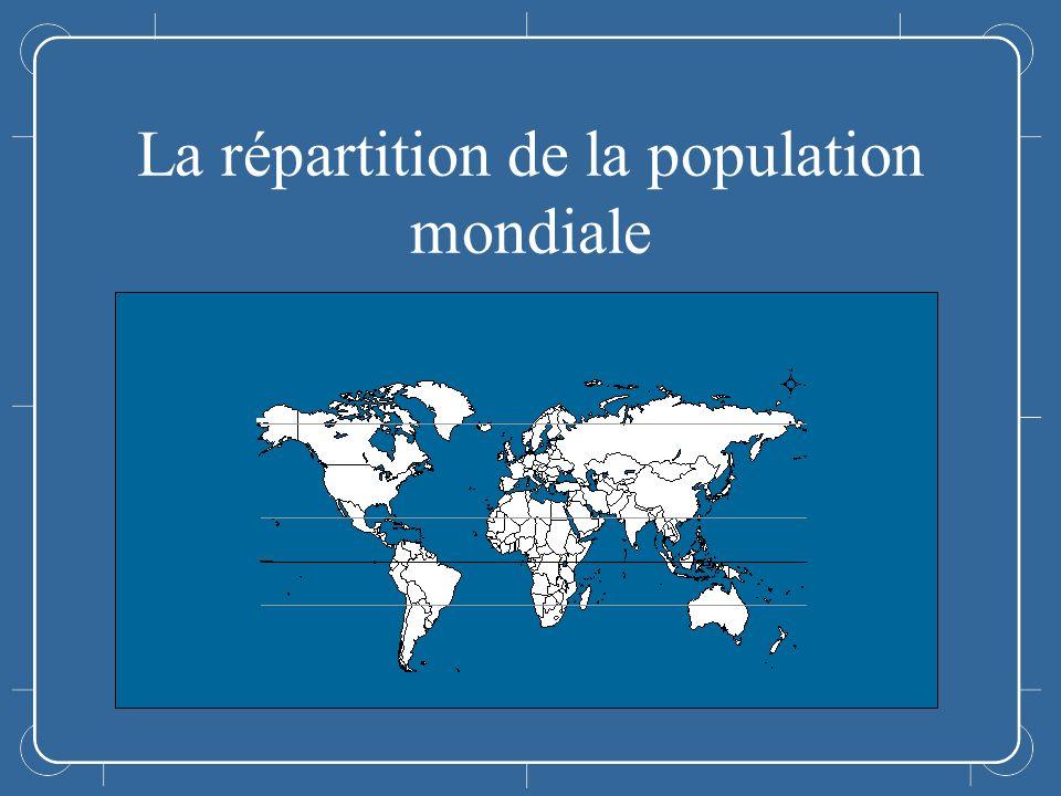 Annonce La répartition de la population mondiale