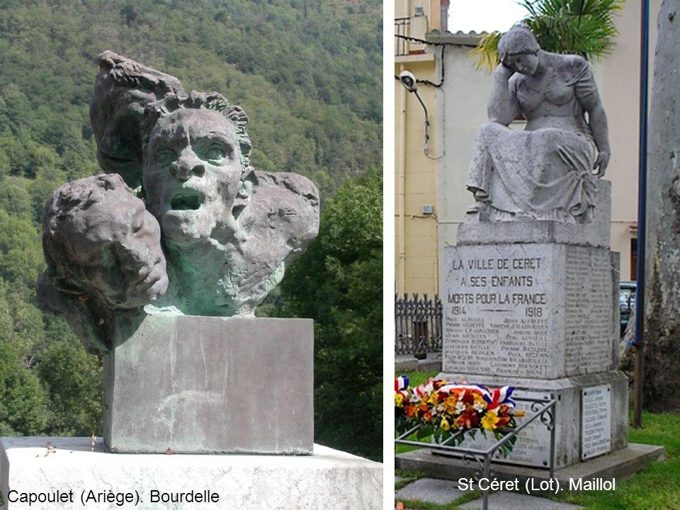 Capoulet (Ariège). Bourdelle St Céret (Lot). Maillol
