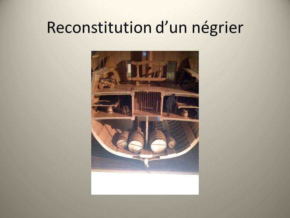 Reconstitution dun négrier