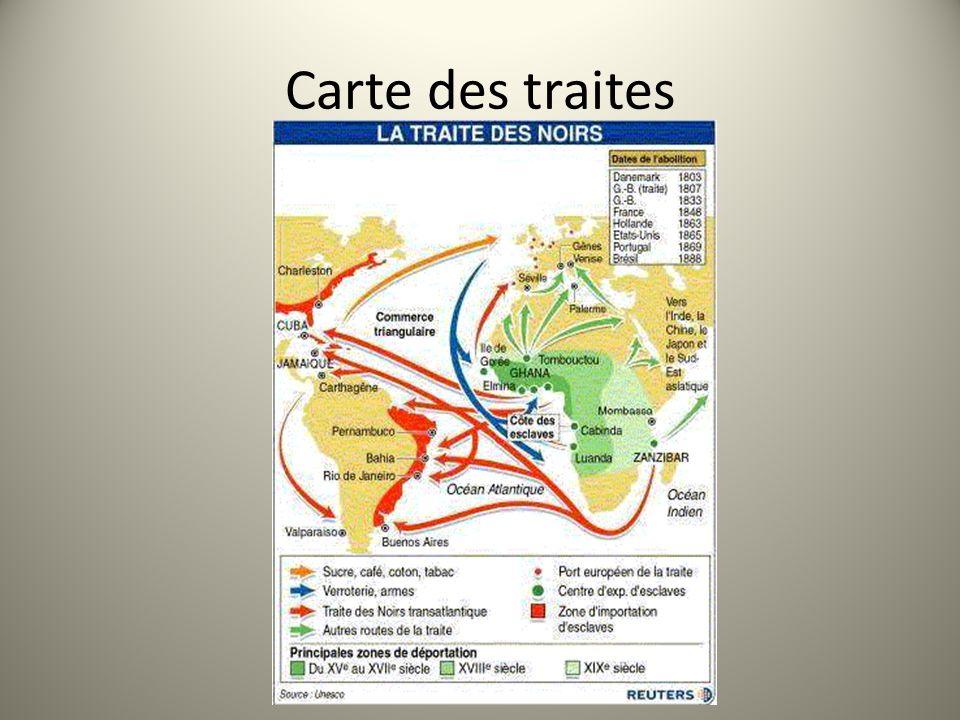 Carte des traites