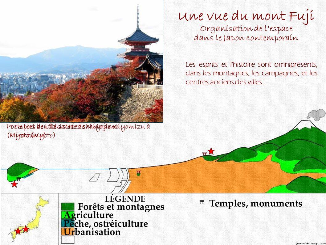 Les campagnes japonaises sont peuplées d'esprits, les kamis. De nombreux temples bouddhistes ou shinto, de toutes tailles parsèment la campagne. Les v