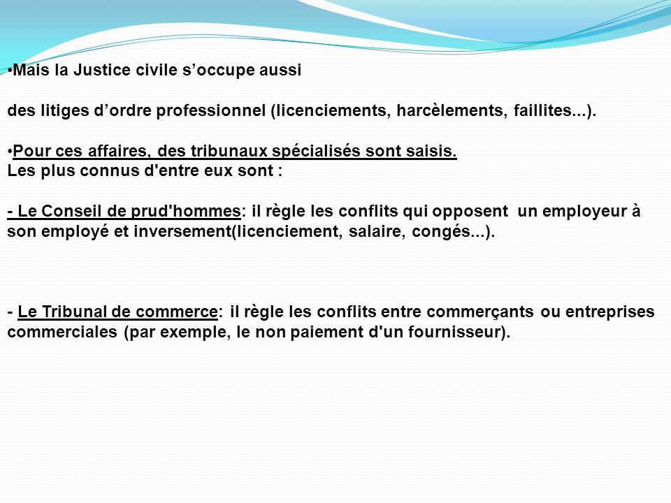 2.La Justice administrative est là pour résoudre les conflits entre les citoyens et ladministration.