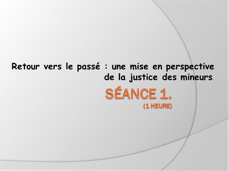 Retour vers le passé : une mise en perspective de la justice des mineurs.
