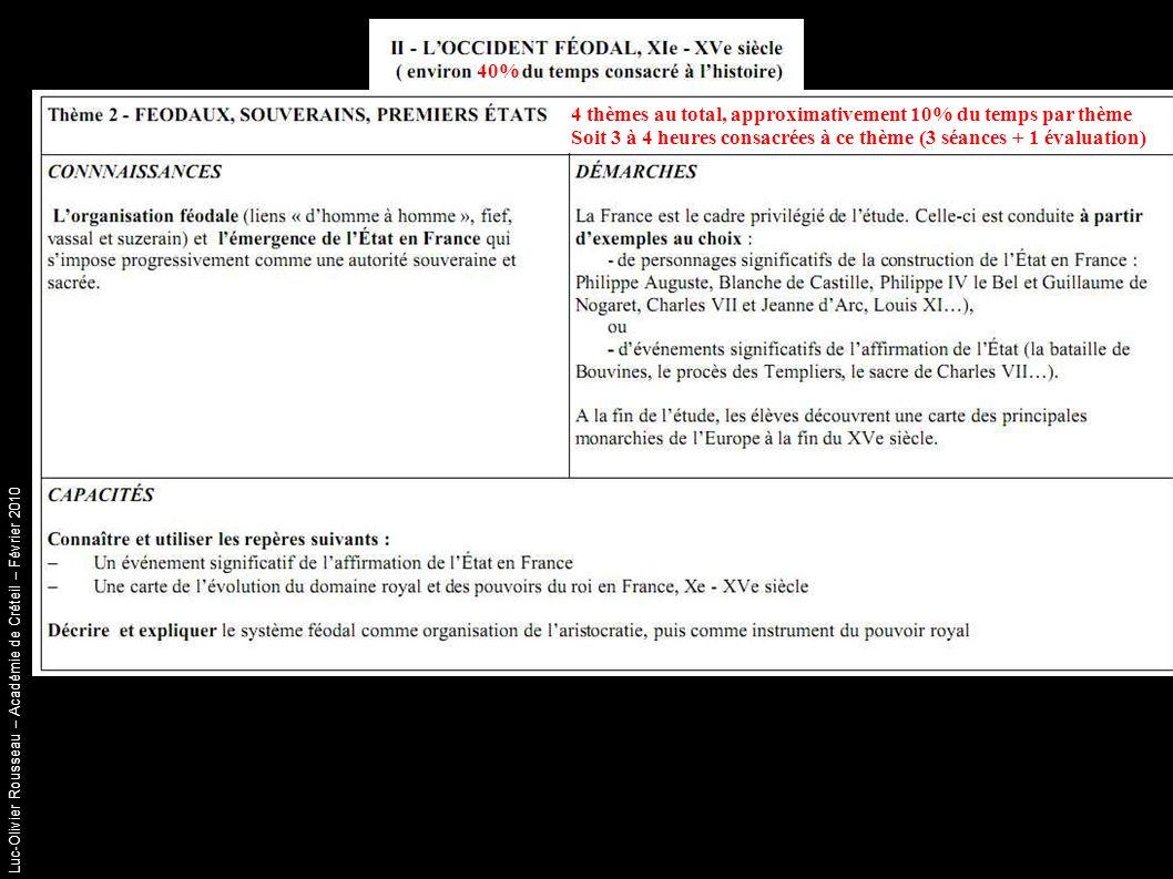 Luc-Olivier Rousseau – Académie de Créteil – Février 2010 Séance 2 Document d accroche : Un vitrail de l église de Bouvines (XIX ème siècle) Objectif : Reprise de la séance précédente (Quels personnages .