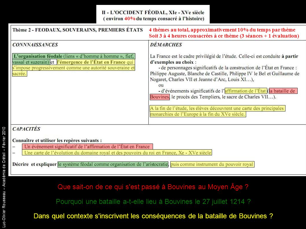 Luc-Olivier Rousseau – Académie de Créteil – Février 2010 Conclusion : les principales monarchies d Europe à la fin du XV ème siècle.