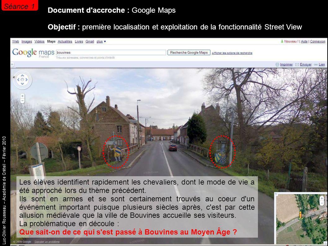 Luc-Olivier Rousseau – Académie de Créteil – Février 2010 Séance 1 Travail d enquête des élèves sur un ensemble documentaire.