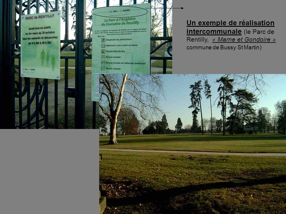 Un exemple de réalisation intercommunale (le Parc de Rentilly, « Marne et Gondoire » commune de Bussy St Martin )