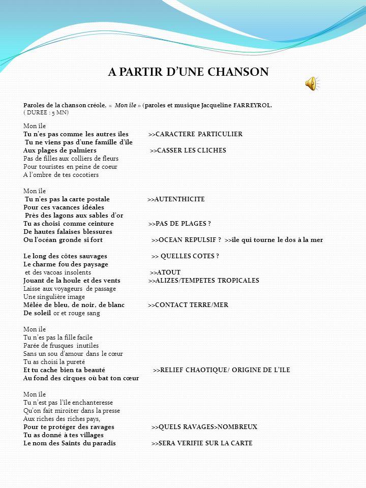 PARTIR DE LANALYSE DUN PAYSAGE