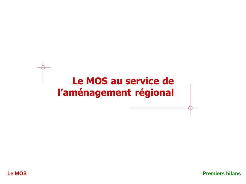 Le MOS au service de laménagement régional Le MOSPremiers bilans