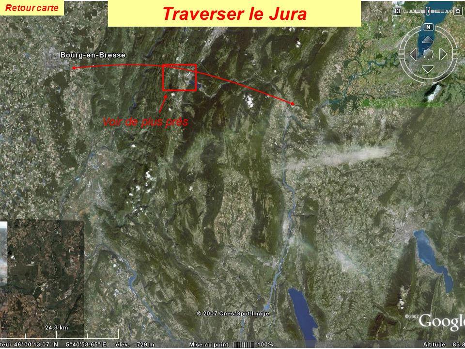 Retour carte Voir de plus près Traverser le Jura