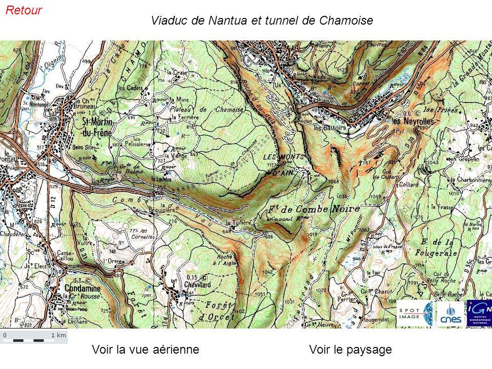 Voir la vue aérienneVoir le paysage Viaduc de Nantua et tunnel de Chamoise Retour