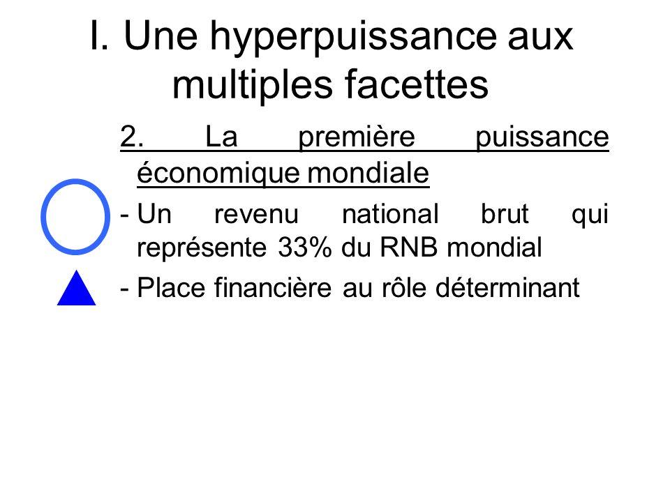 I. Une hyperpuissance aux multiples facettes 2. La première puissance économique mondiale -Un revenu national brut qui représente 33% du RNB mondial -