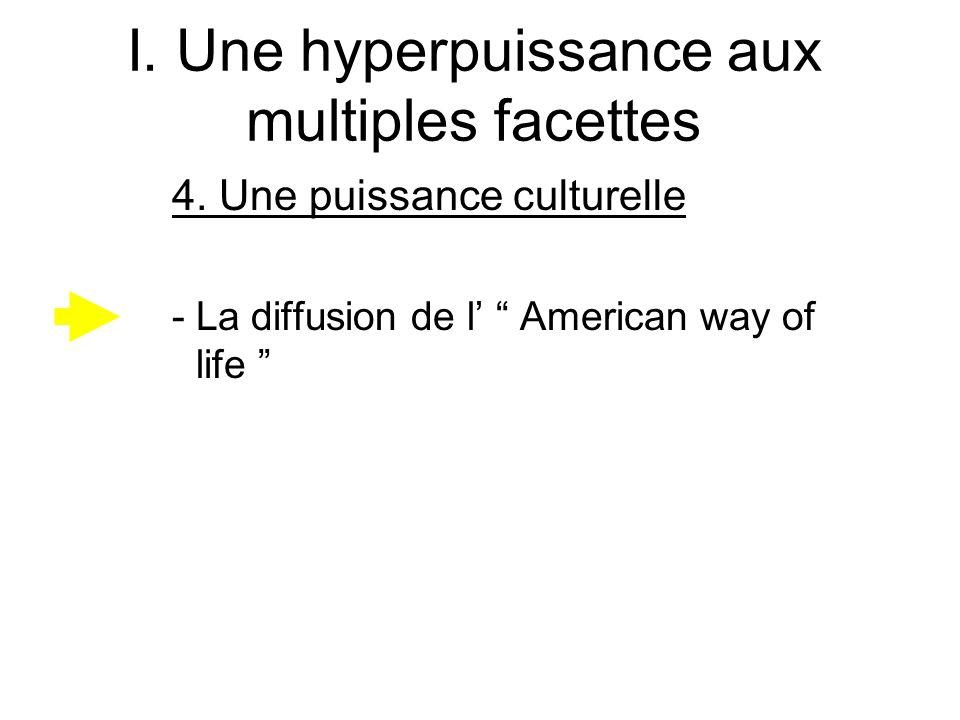 I. Une hyperpuissance aux multiples facettes 4. Une puissance culturelle -La diffusion de l American way of life