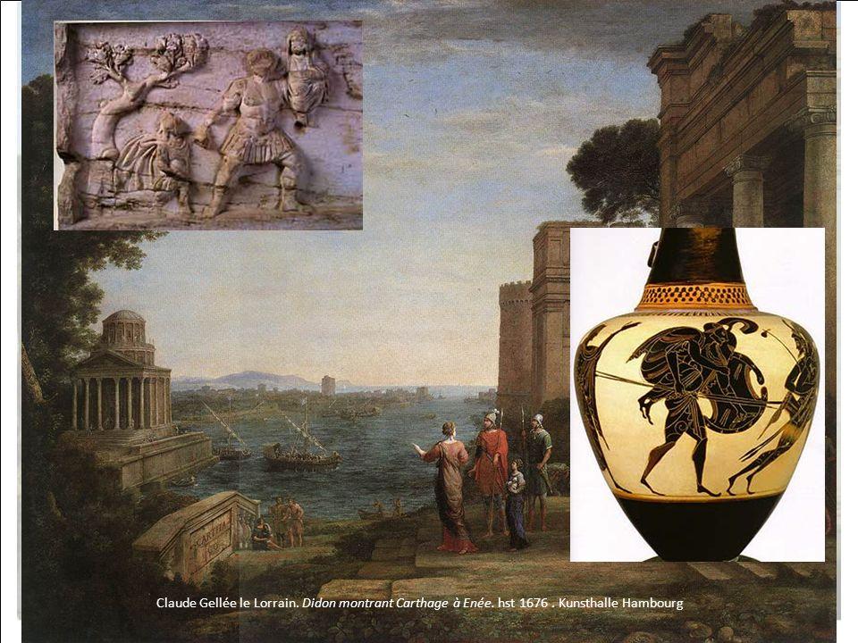 HISTOIRE DES ARTS Claude Gellée le Lorrain. Didon montrant Carthage à Enée. hst 1676. Kunsthalle Hambourg