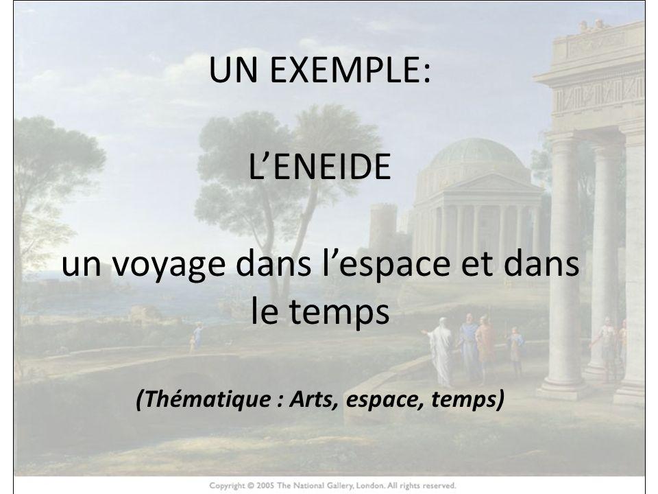 HISTOIRE DES ARTS UN EXEMPLE: LENEIDE un voyage dans lespace et dans le temps (Thématique : Arts, espace, temps)