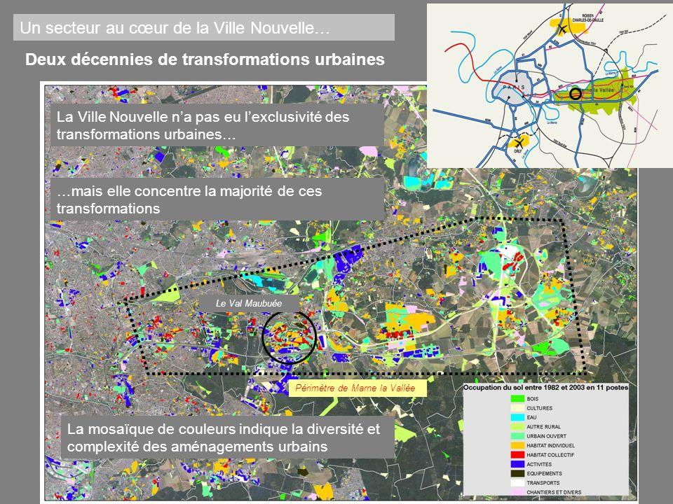 Deux décennies de transformations urbaines La Ville Nouvelle na pas eu lexclusivité des transformations urbaines… …mais elle concentre la majorité de
