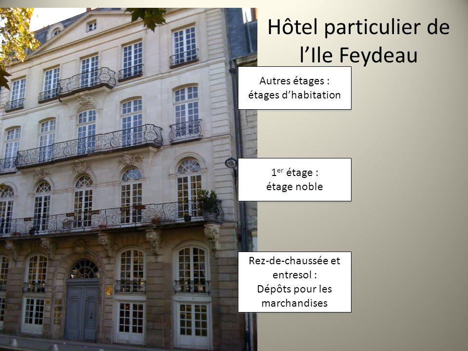 Hôtel particulier de lIle Feydeau Autres étages : étages dhabitation Autres étages : étages dhabitation 1 er étage : étage noble 1 er étage : étage no
