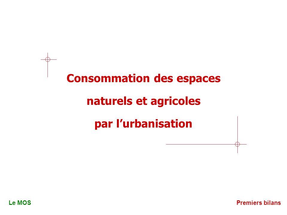 Consommation des espaces naturels et agricoles par lurbanisation Le MOSPremiers bilans