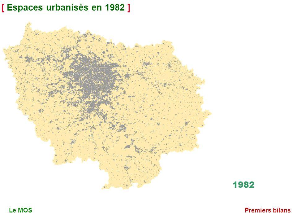 [ Espaces urbanisés en 1982 ] 1982 Le MOSPremiers bilans