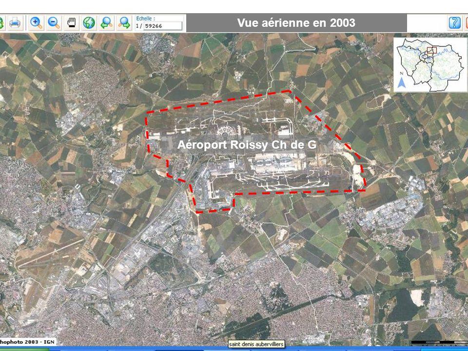 Vue aérienne en 2003 Aéroport Roissy Ch de G
