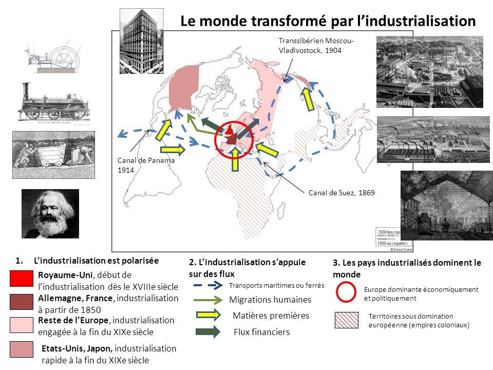 Le monde transformé par lindustrialisation 1.Lindustrialisation est polarisée 2.