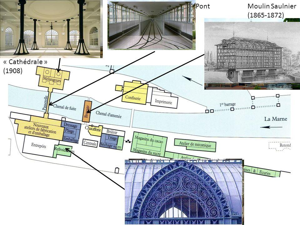 Moulin Saulnier (1865-1872) « Cathédrale » (1908) Pont