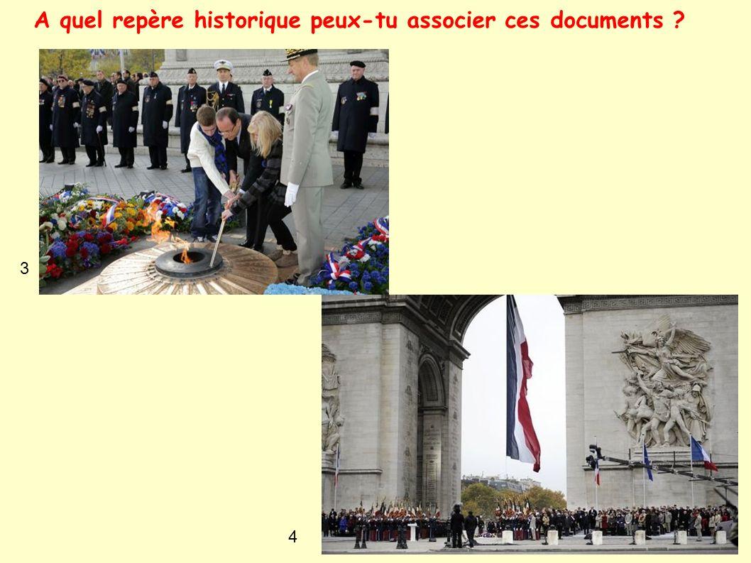 A quel repère historique peux-tu associer ces documents ? 3 4