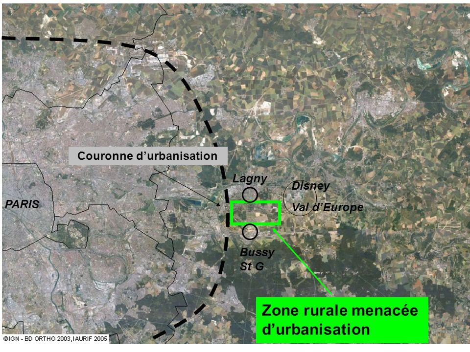 PARIS Lagny Bussy St G Disney Val dEurope Couronne durbanisation Zone rurale menacée durbanisation