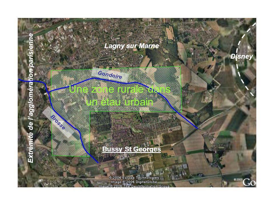 Bussy St Georges Lagny sur Marne Disney Extrémité de lagglomération parisienne Gondoire Brosse Une zone rurale dans un étau urbain