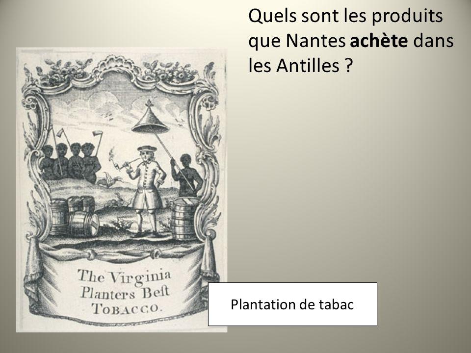 Quels sont les produits que Nantes achète dans les Antilles .