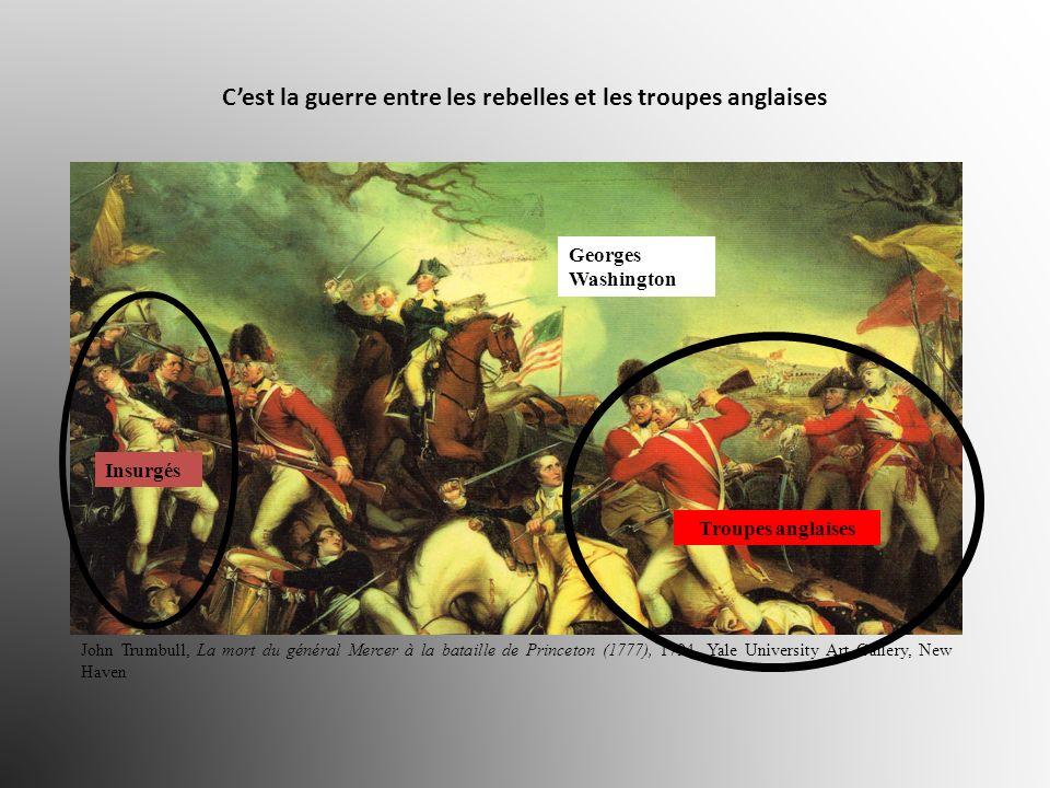 Cest la guerre entre les rebelles et les troupes anglaises John Trumbull, La mort du général Mercer à la bataille de Princeton (1777), 1794, Yale Univ