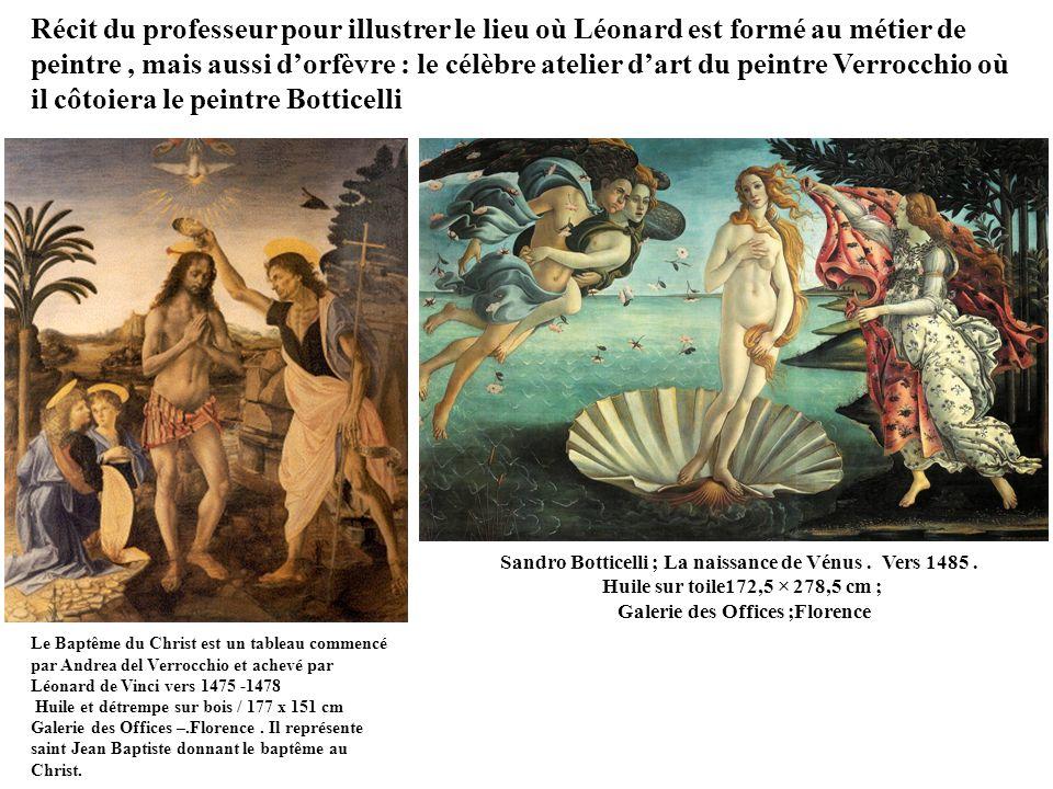 Sandro Botticelli ; La naissance de Vénus.Vers 1485.