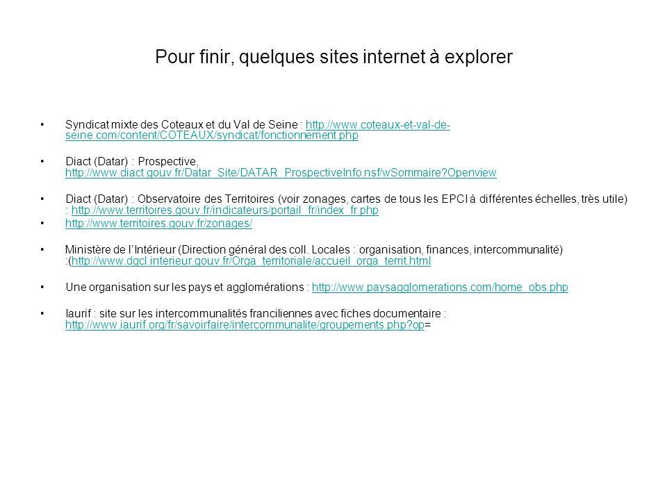Pour finir, quelques sites internet à explorer Syndicat mixte des Coteaux et du Val de Seine : http://www.coteaux-et-val-de- seine.com/content/COTEAUX